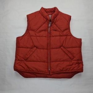Vintage Lee Storm Rider Puffer Puffy Vest XL Rust
